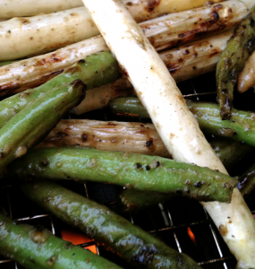 Grilled Green Beans and White Asparagus