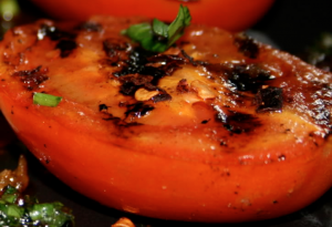 Fresh veggies make the difference in Grilled Tomato Pie.a