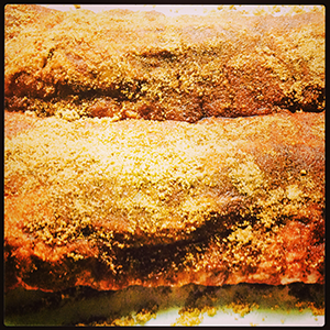 Clean, dry ribs and add rub to both sides