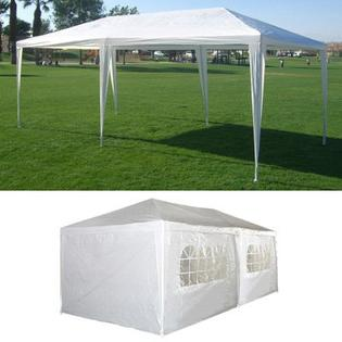 10 X 20 White Party Tent with Sidewalls