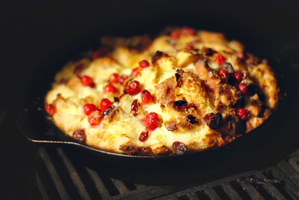 Cranberry Bread Pudding off the grill ... 📷 Robyn Lindars