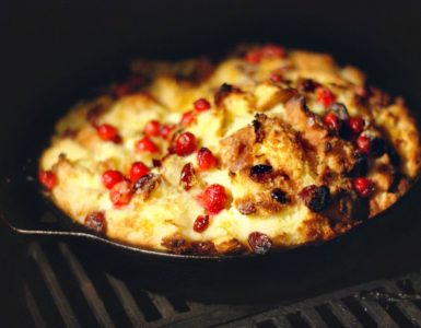 Cranberry Bread Pudding off the grill