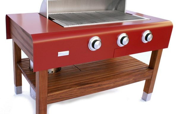 60-inch Freestanding RED Wood-Table Grill (Natural Gas)