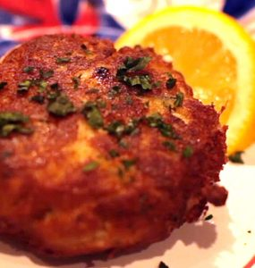 Crab Cakes on a FireDisc Cooker