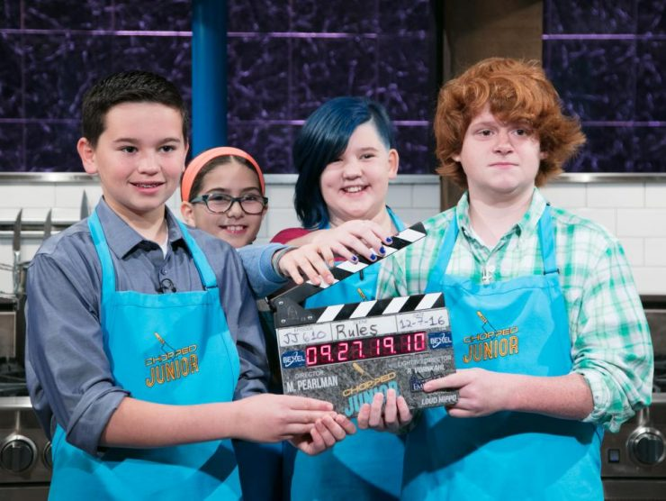 Silliness on the set of Food Network's Chopped Junior: Make Me a Judge.