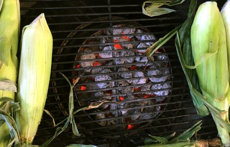 The homemade charcoal halo can create singe-free zones in any circular grill or smoker. It's great for grilling corn or other veggies.