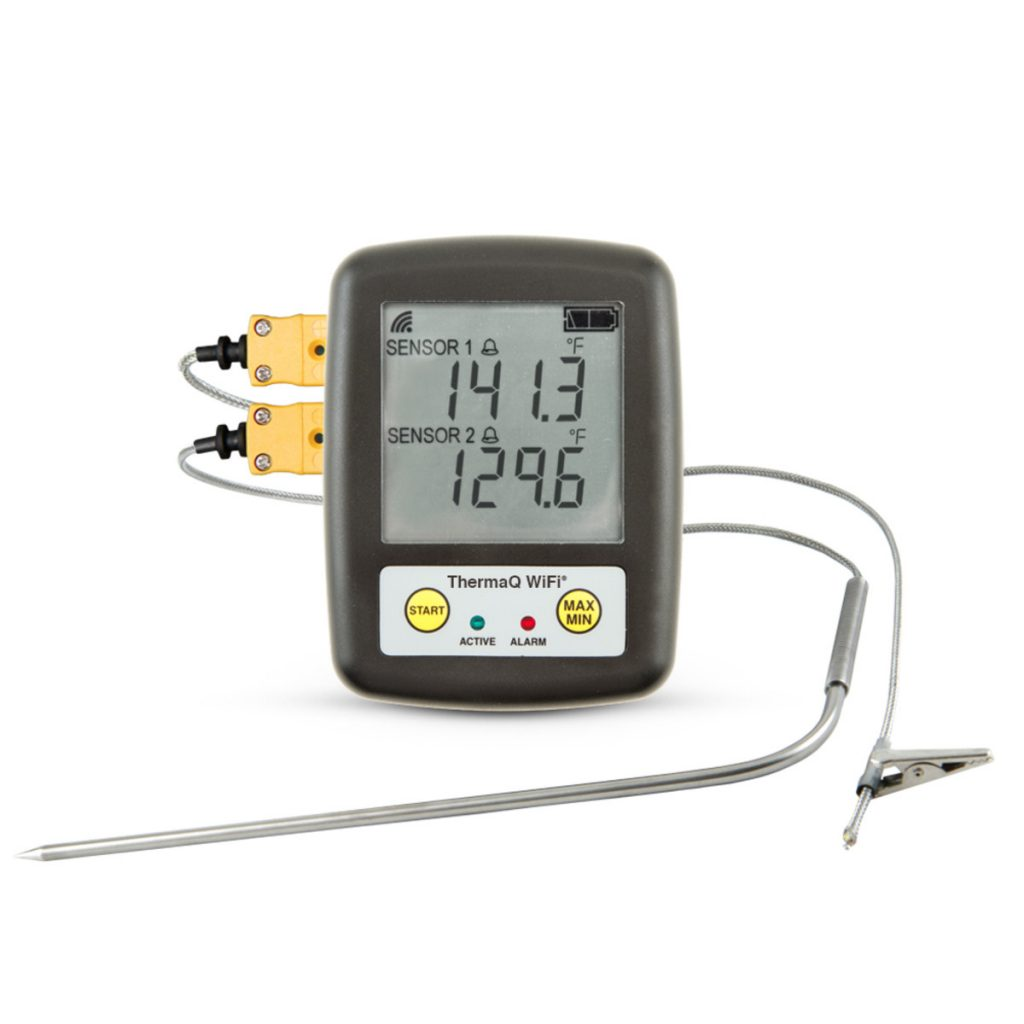 When smoking meats, it's wise to have a dependable thermometer. The ThermaQ-Wifi from Thermoworks is your answer.