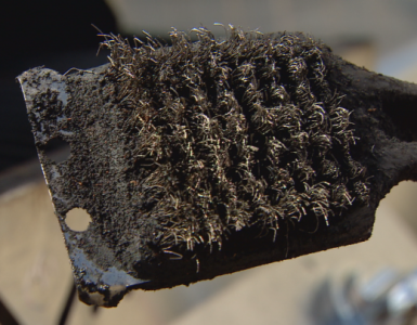 Wire-bristle brushes could cause health issues due to metal being ingested after grilling.
