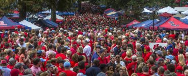 The Grove on a gorgeous Saturday in September in Oxford, Miss. (Photo by Joshua McCoy/Ole Miss Athletics)