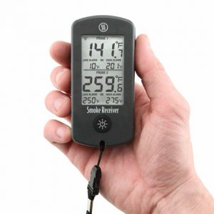 Smoke 2-Channel Alarm Thermometer