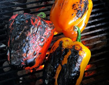 Smoked Peppers on the grill.