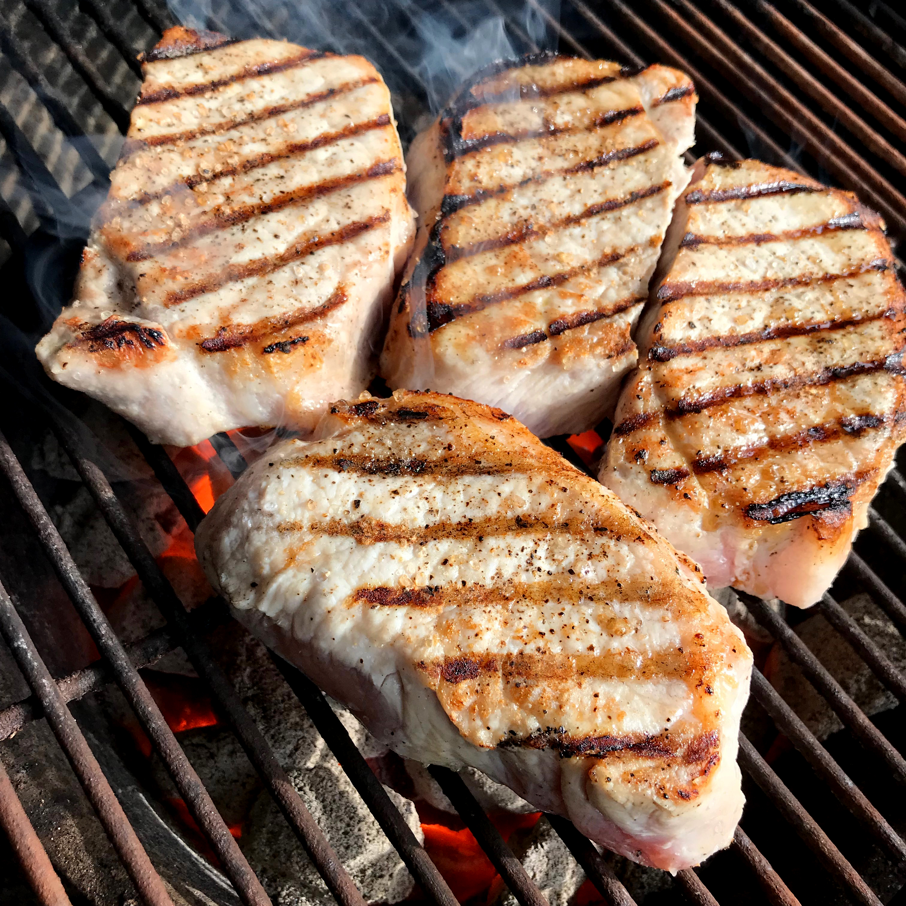 Sear your pork cutlets and move away from heat for about 20 minutes, or until an internal temperature of 145 degrees.