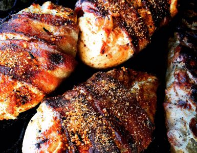 Big Bad Bacon wrapped Chicken Breasts