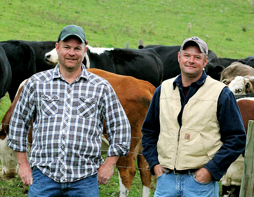 Crowd Cow — Wolfe Brothers Farm's Kris and Tony Wolfe.