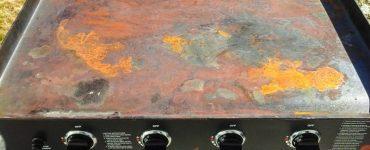 Rust can wreak havoc on flat top griddles.
