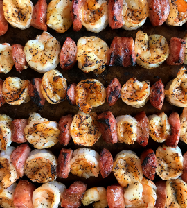 MoBay, or Mobile Bay, is known for the appetizer Conecuh Sausage and Gulf Shrimp Skewers.