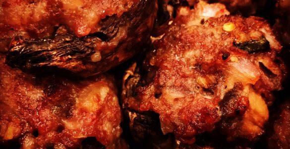 Stuffed Mushrooms with Spicy Italian Sausage