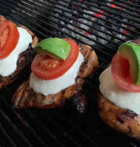 Caprese Chicken off the grill