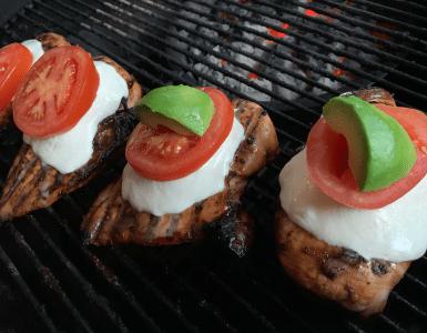 Caprese Chicken off the grill