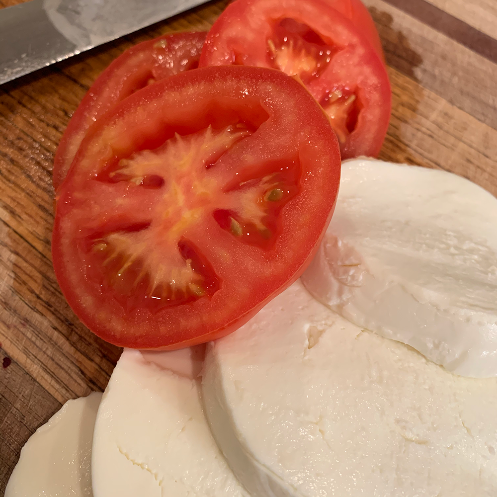 Caprese Chicken with tomato and mozzarella