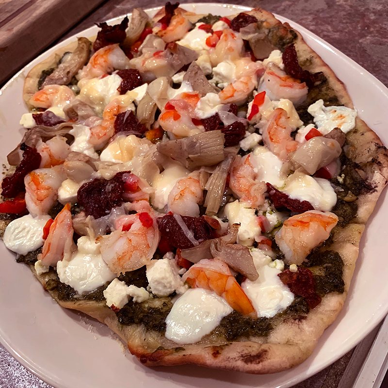 Grillax Pesto Pizza with Urban Slicer Outdoor Grilling Pizza Dough
